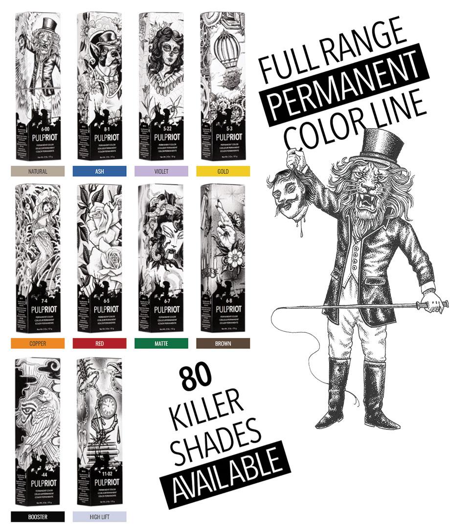 Pulp Riot: Colori permanenti faction8 colorazioni disponibili